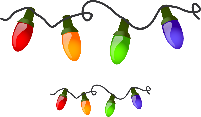 793x464 Free Christmas Light Clipart