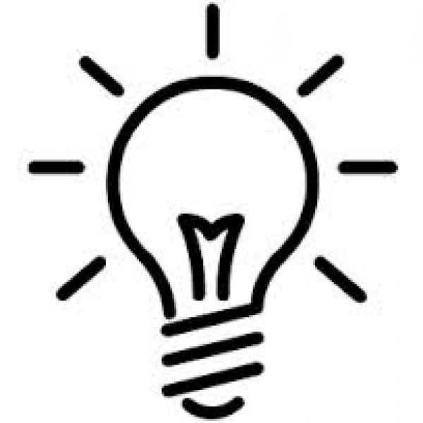 600x600 Light Bulb Outline Clip Art