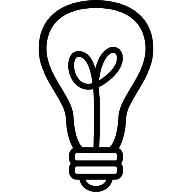 626x626 Light Bulb Outline Icons Free Download
