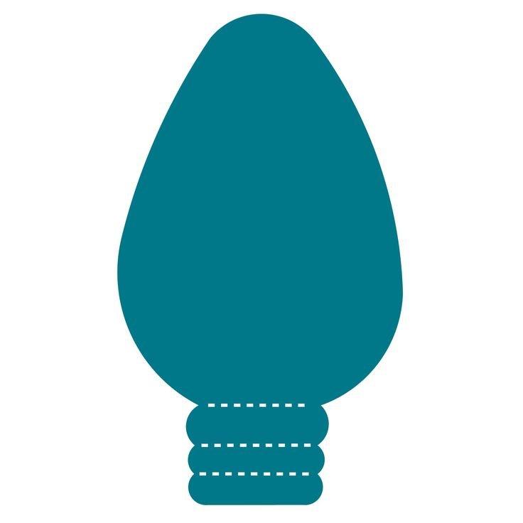 736x736 Christmas Lightbulb Outline Clipart Collection Regarding Christmas
