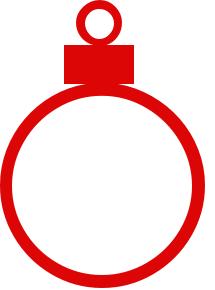 215x290 Christmas Bulb Clipart