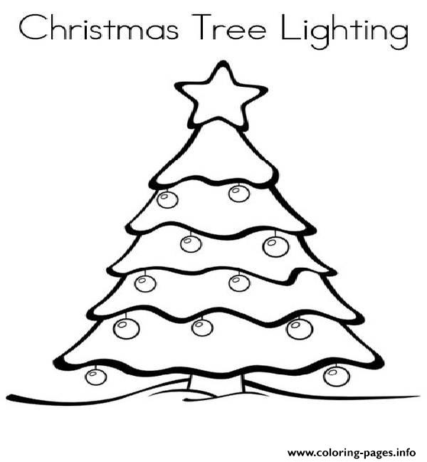 Christmas Light Coloring Page Free download best Christmas Light
