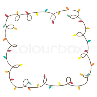 320x320 Christmas Lights Decorations Set For Celebratory Design. Used