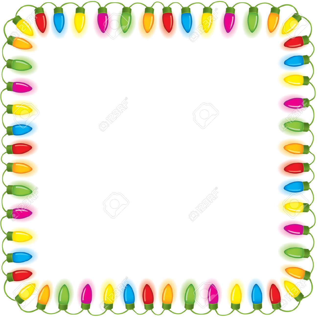 1300x1298 Christmas Lights Clipart Boarder