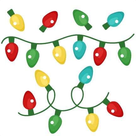 432x432 Christmas Lights Clipart Silhouette