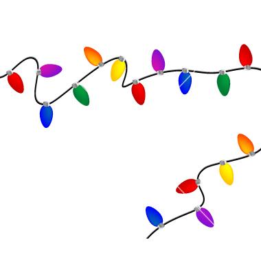 380x400 Christmas Lights Christmas Light Clipart 8