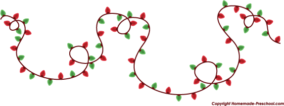 574x214 Free Christmas Lights Clipart