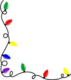 236x265 Christmas Lights Clipart Border