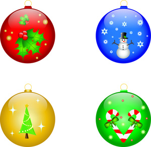 300x291 Free Christmas Tree Bulbs Clipart