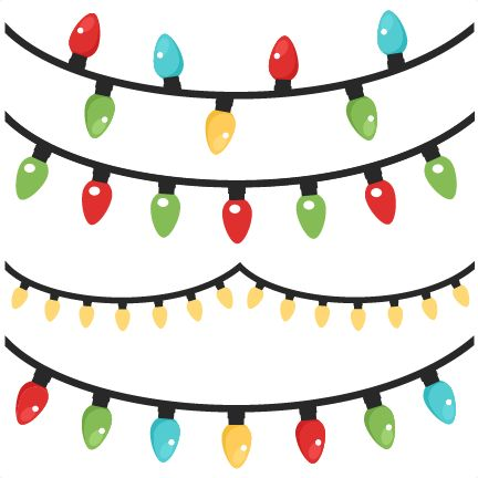 Christmas Lights Banner Clipart