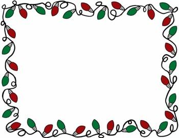350x270 christmas border christmas lights border clip art - Christmas Lights Frame