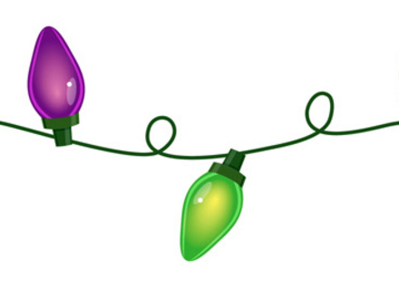 440x320 Christmas Lights Border Coloring Page Chemineewebsite