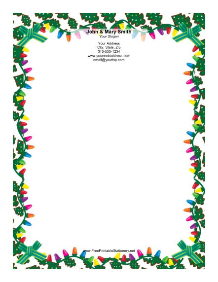 442x572 christmas lights borders microsoft word halloween amp holidays wizard