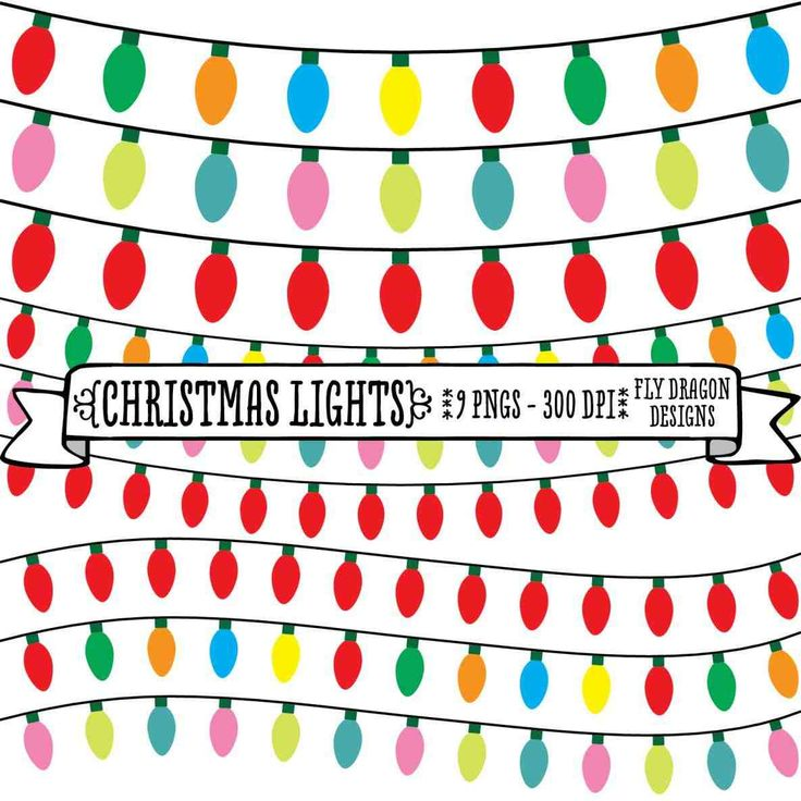 Christmas Lights Borders