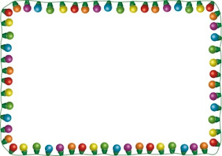 320x225 Twinkling Christmas Lights Clipart