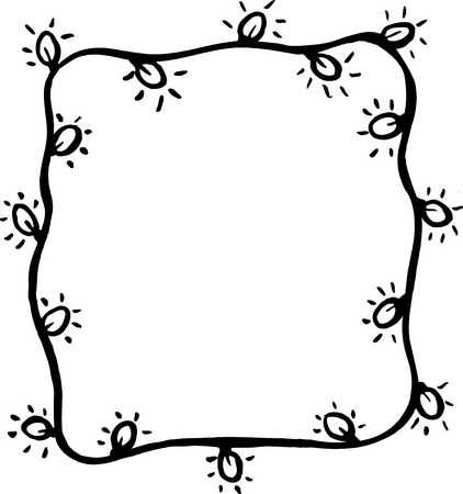 Christmas Lights Clipart Black And White   Free download on ClipArtMag