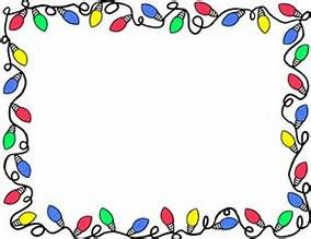 Christmas Lights Clipart Borders