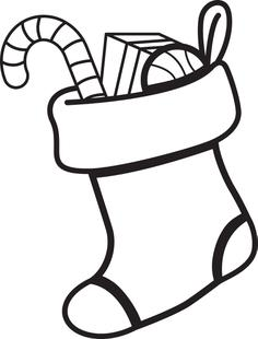 236x310 free printable christmas stocking coloring page for kids