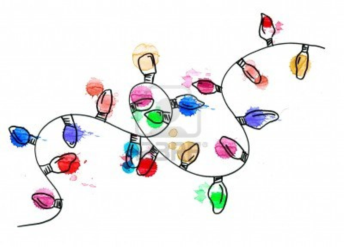 Christmas Lights Drawing