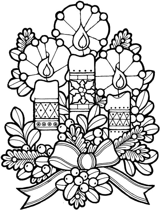 551x720 Adult Christmas Coloring Pages Line Drawings Online Adult
