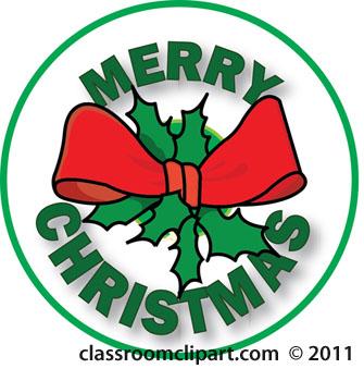335x350 Merry Christmas Clipart Green