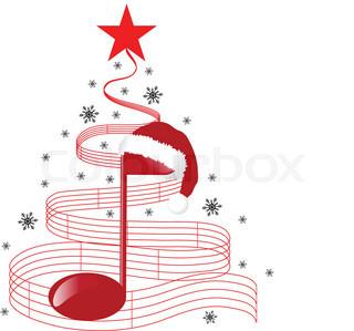 320x299 A Christmas Tree Of Musical Notes Symbolizing Christmas Carols