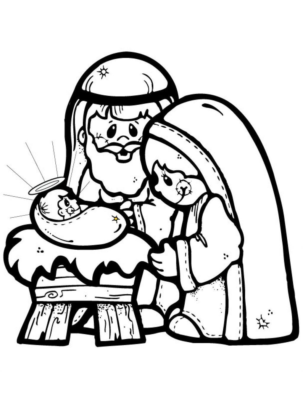 1024x1327 Christmas Nativity Clipart Black White Merry Christmas