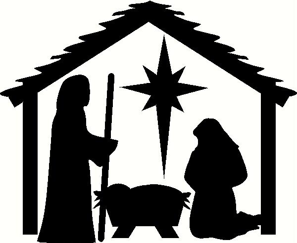 600x492 Christmas Stable Clipart