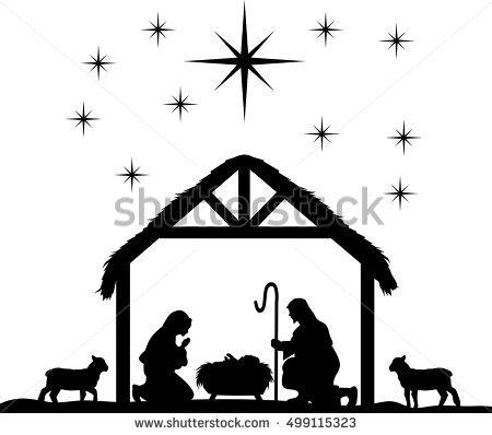 450x398 Vector Nativity Clip Art Merry Christmas Amp Happy New Year Arts