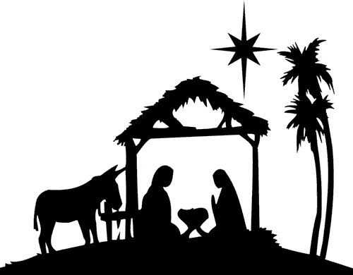 500x390 Nativity Clipart Black And White For Free 101 Clip Art On Black