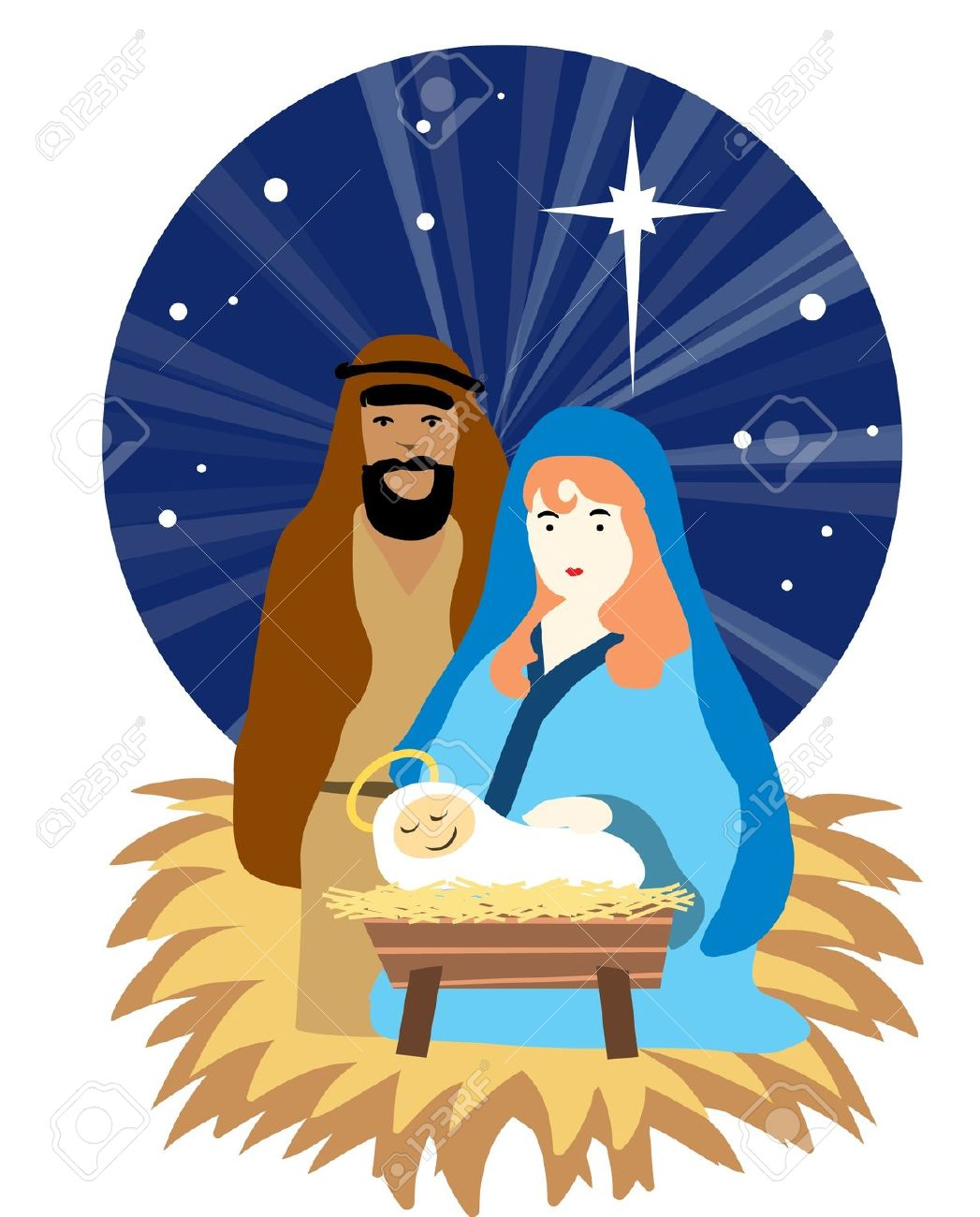 Christmas Nativity Scene Clipart   Free download on ClipArtMag