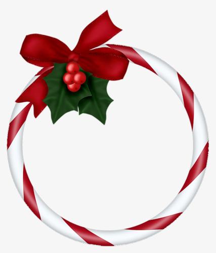 427x500 Christmas Decoration Border, Christmas, Frame, Round Png Image