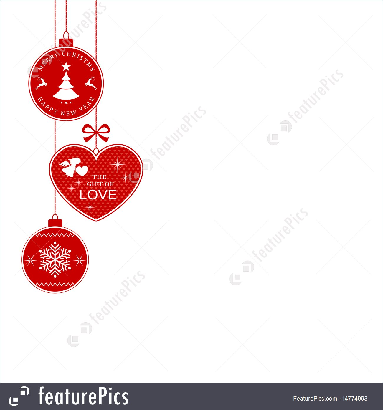 1300x1392 Holidays Christmas Border With Hanging Christmas Ornaments