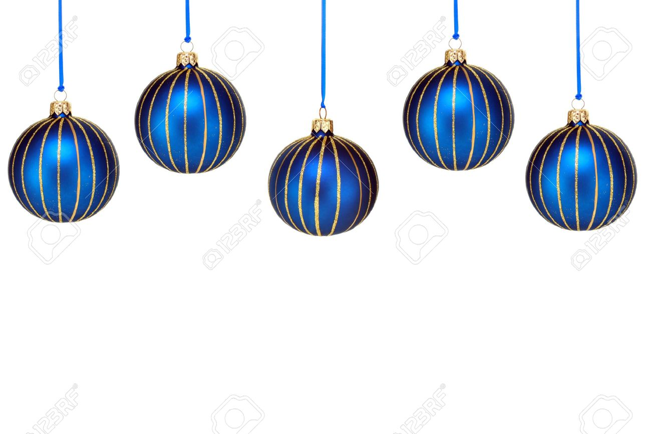 1300x866 Uncategorized Five Blue And Gold Christmas Ornaments Form Top
