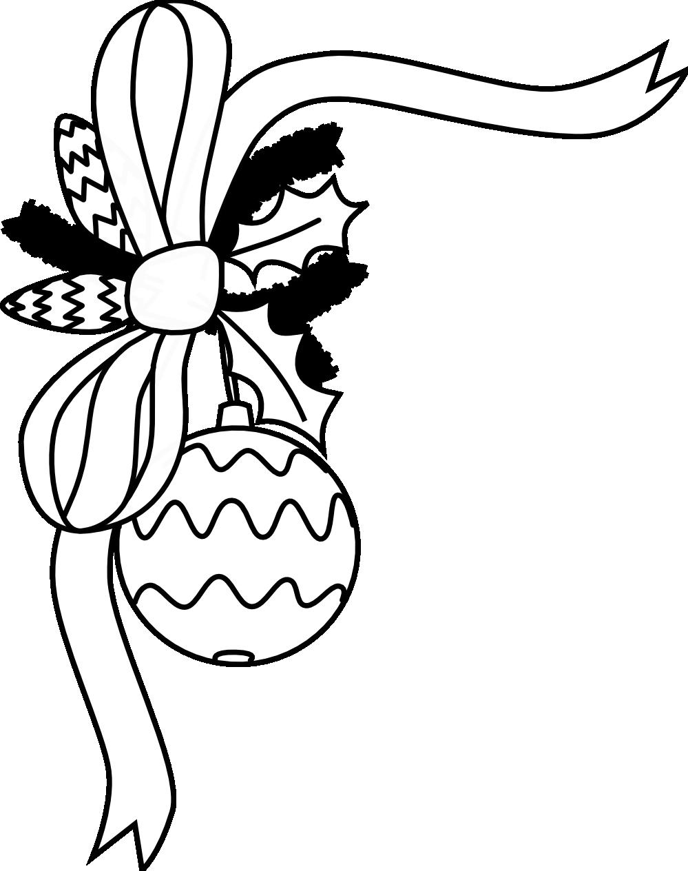 999x1264 Drawn Christmas Ornaments Christmas Border Black And White