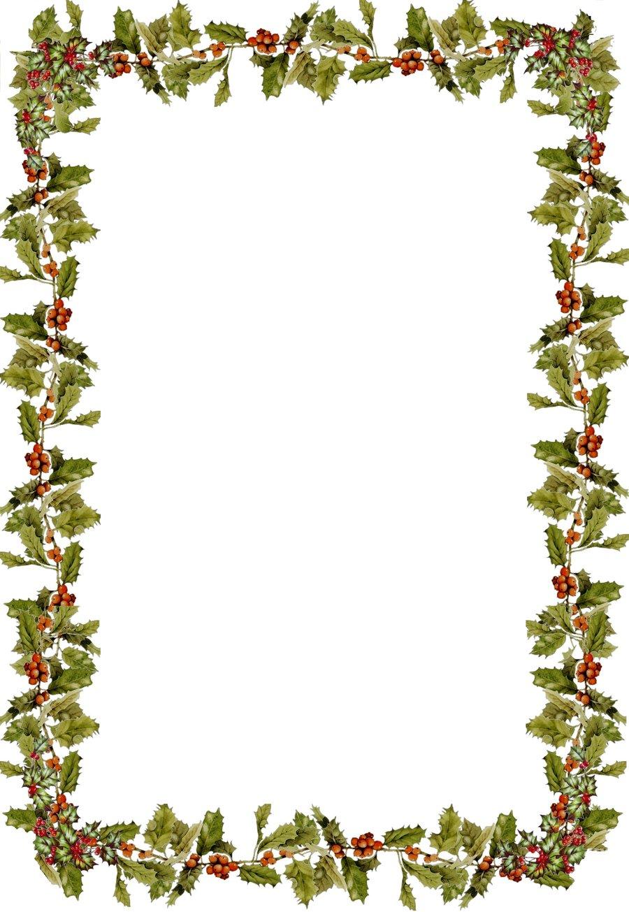 900x1305 Holly Border Clip Art
