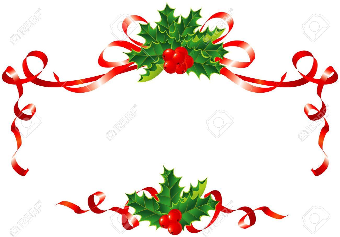 1300x906 Horizontal Christmas Ornament Border Merry Christmas Amp Happy New