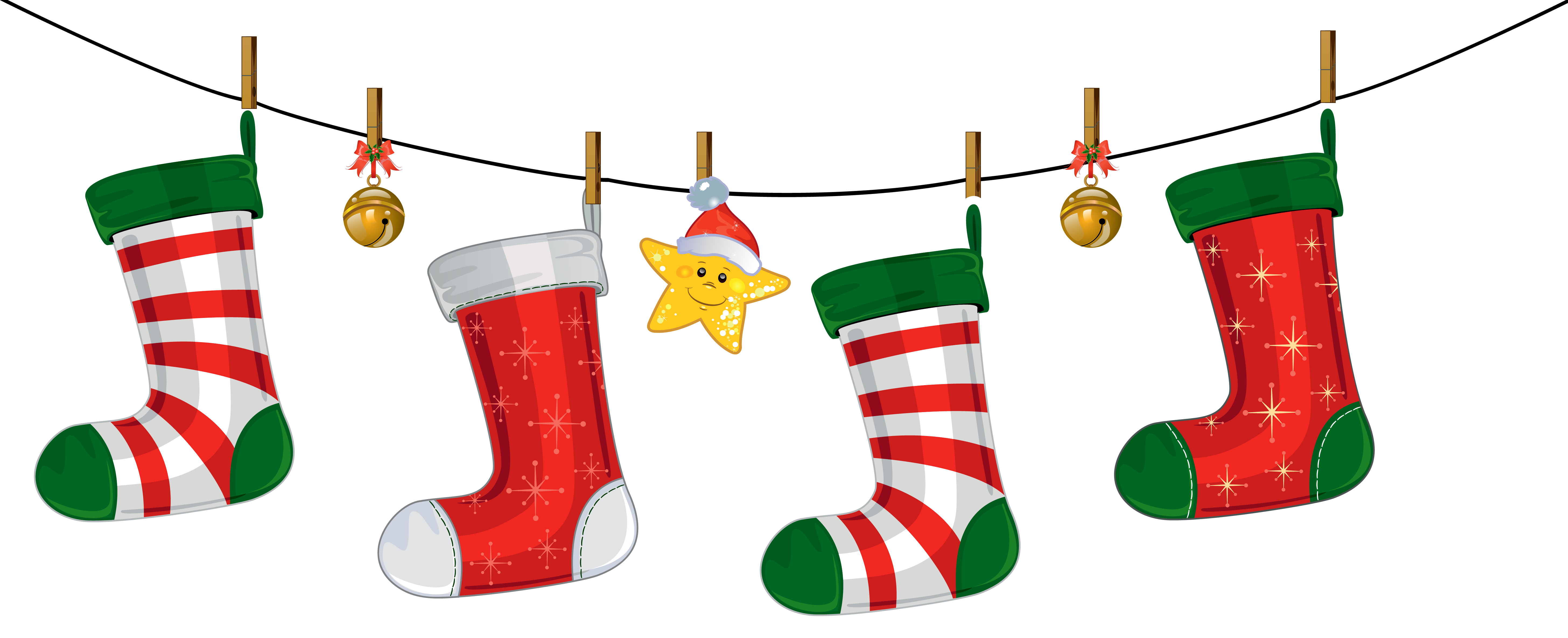 5825x2372 Chirstmas Clipart