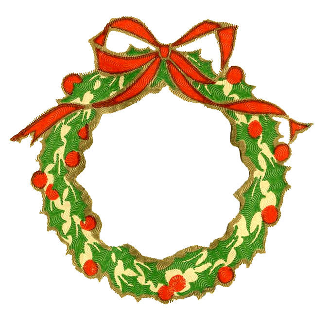 675x676 Christmas Ornaments Clipart Christmas Holly Garland