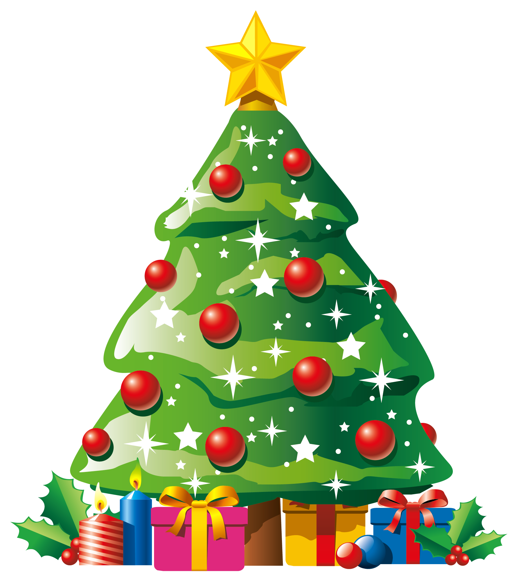 1796x2010 Christmas Tree With Presents Clip Art Happy Holidays!