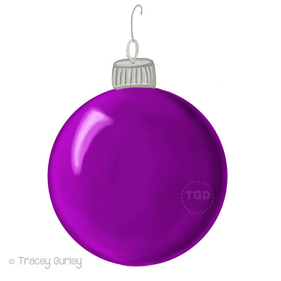 570x570 Purple Christmas Ornament Clip Art Hand Painted Clip Art