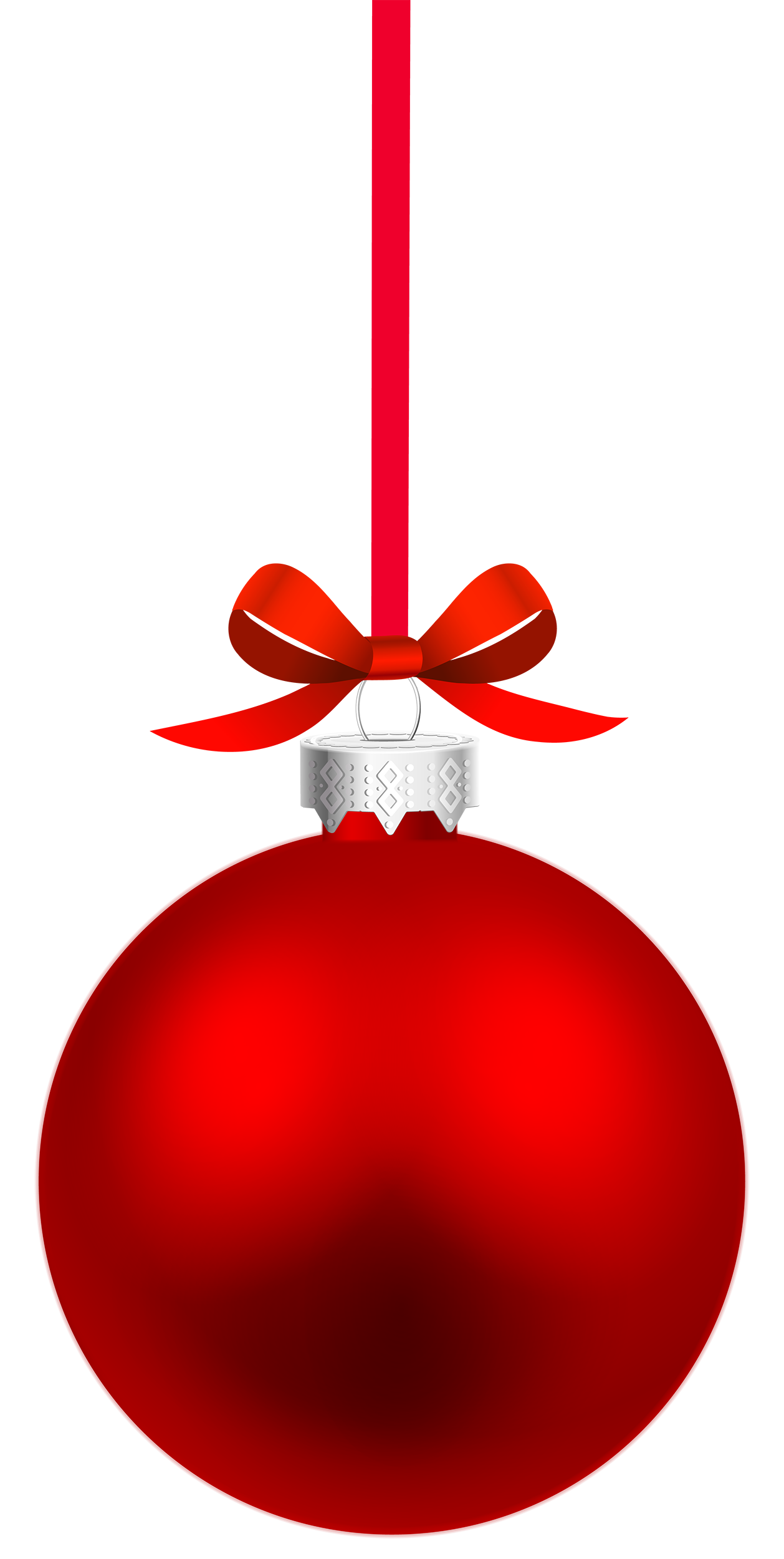 1258x2500 Red Hanging Christmas Ball Png Clipart