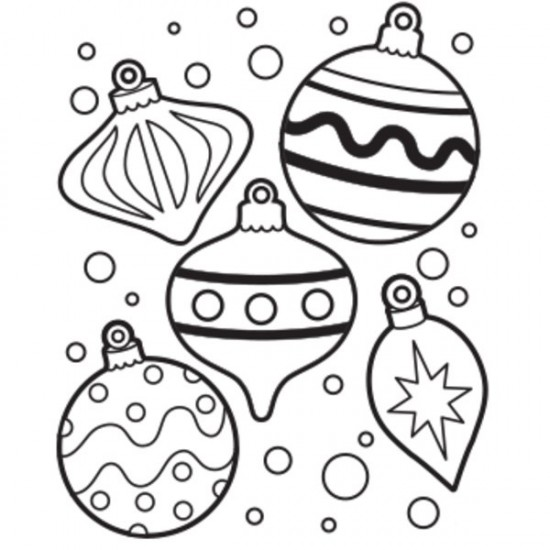 550x550 Coloring Pages Christmas Ornaments Wallpapers9