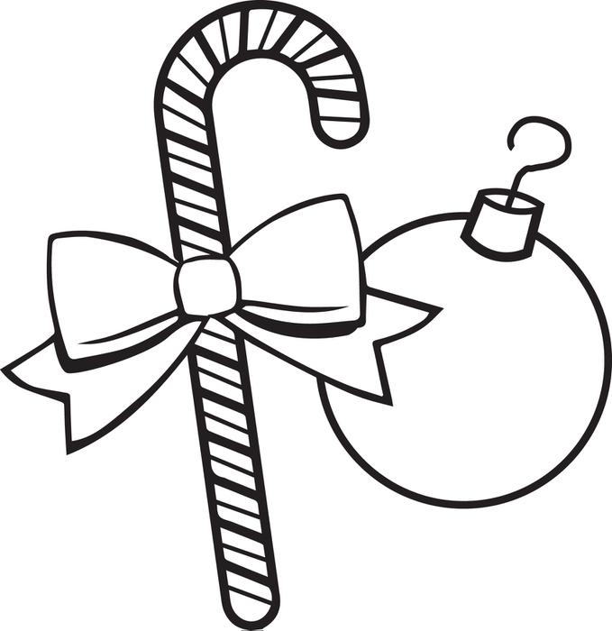 679x700 Free Printable Christmas Ornaments Coloring Page For Kids
