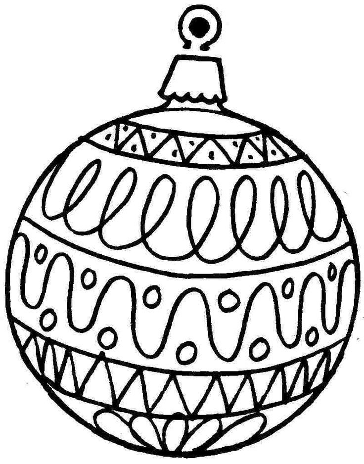 Christmas Ornament Coloring Pages | Free download best ...