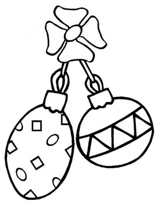 518x690 Kids Printable Coloring Pages Christmas Ornament