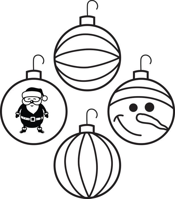 614x700 Printable Templates Amp Coloring Pages In Ornament Ball