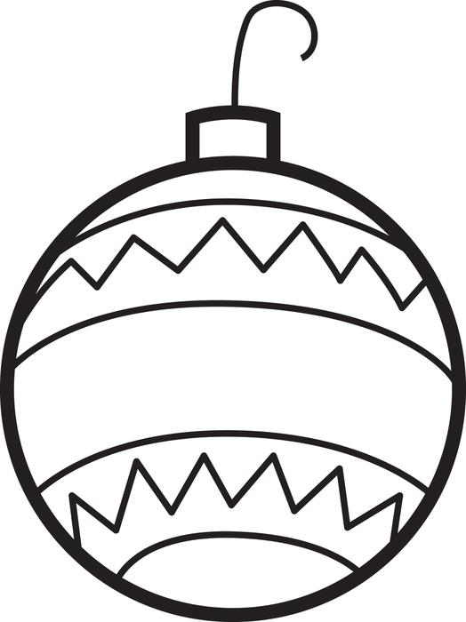 Christmas Ornament Coloring Pages Free Download Best