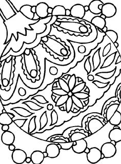 236x320 Ornaments Coloring Pages
