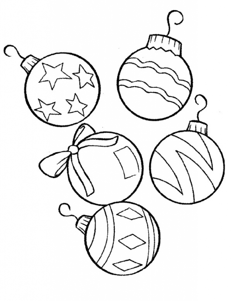 Printable Christmas Ornaments.Christmas Ornament Coloring Pages Free Download Best